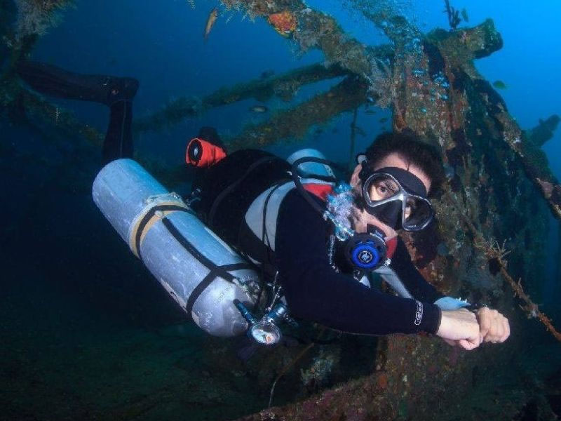 TDI Sidemount Diver Puerto Galera Philippines